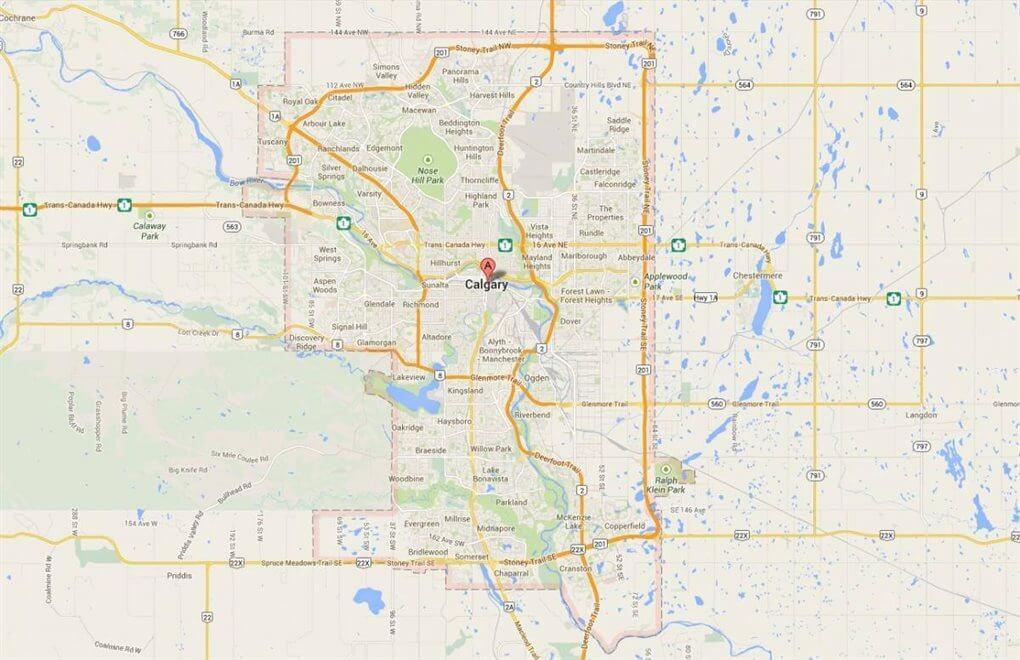 Kaart Calgary