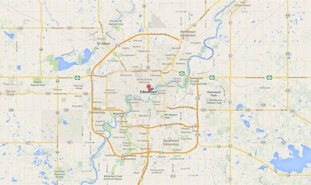 Kaart Edmonton