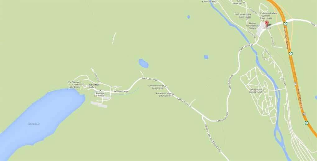 Kaart Lake Louise