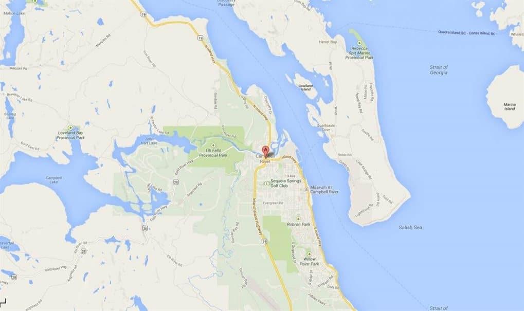kaart campbell river