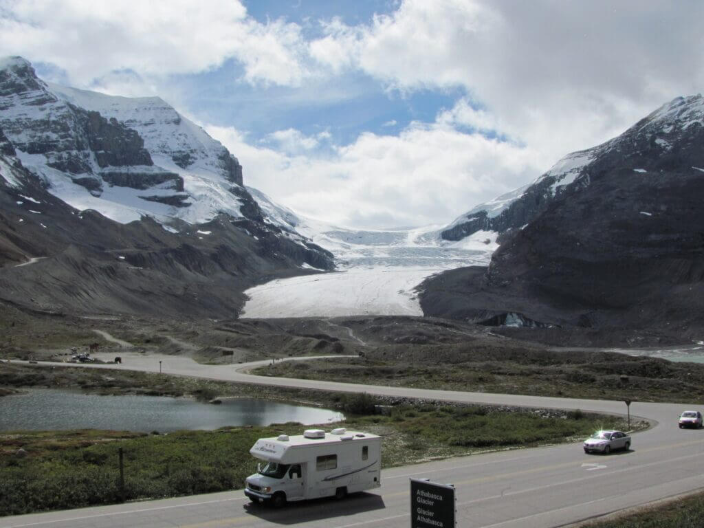 Athabasca Glacier aan Icefields Parkway
