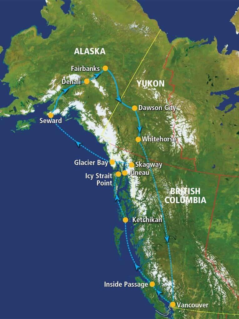 Route Gletsjers, Gold Rush Yukon & Alaska