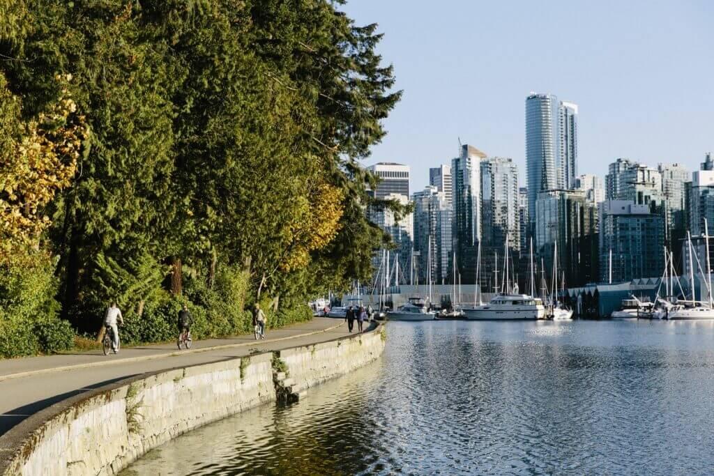 Seawall in Stanley Park, Vancouver