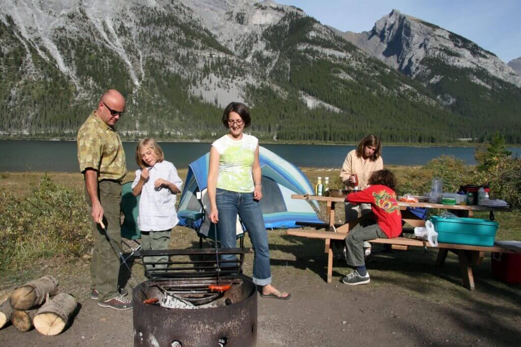 camping west spray lakes camground kananaskis country 2 8